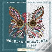 Woodland Creatures Night & Day Colouring Book