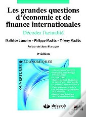 Grandes Questions D'Economie Et Finances Internationales
