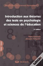 Introducion Aux Theories Des Test En Psychologie Et Sciences De L'Education (3e Edition)