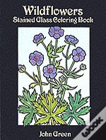 Wildflowers Stained Glass Colouring Book