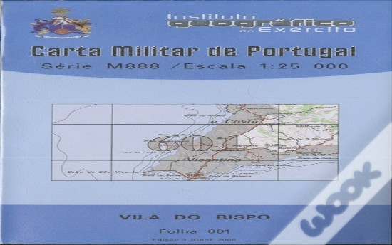 Carta Militar de Portugal (esc.1:25,000) nº 601 - VILA DO BISPO