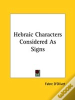 Hebraic Characters Considered As Signs