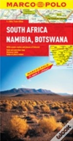 South Africa, Namibia, Botswana Marco Polo Map